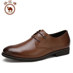骆驼牌男鞋 春季新品男士英伦简约商务牛皮正装男鞋子皮鞋