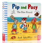 英文原版绘本 Pip and Posy: The New Friend 纸板书 波西和皮普 新朋友 儿童图画书 Axe