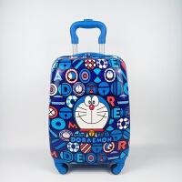 儿童拉杆箱16寸万向轮旅行箱公主芭比KT猫男孩超人小黄人行李登机