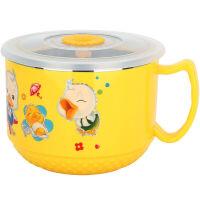 【当当自营】美厨(maxcook)儿童饭碗饭盒304不锈钢密封多用碗700ML双层隔热 MCKL181
