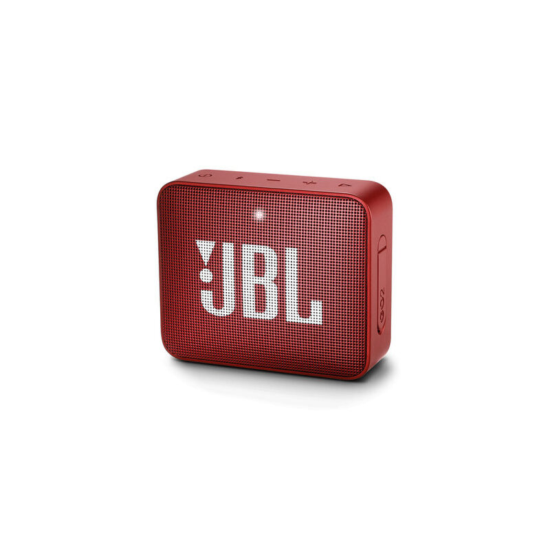 JBL GO2 音乐金砖二代 便携式蓝牙音箱+低音炮 户外音箱 迷你小音响 可免提通话 防水设计 红 超长播放 IPX7防水外壳 支持双向通话