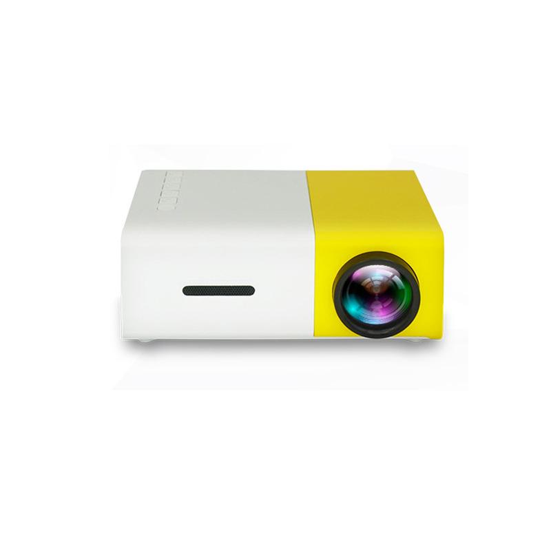 投影仪新款娱乐便携家用LED迷你微型1080高清投影机 支持多种设备默认发黑黄色 需要黑白色请备注