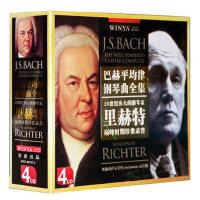 正版 巴赫平均律钢琴曲全集4CD 里赫特 古典音乐光盘碟片