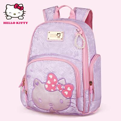 HelloKitty凯蒂猫 KT1098浅紫 儿童书包小学生书包女童韩版甜美淑女减负护脊书包