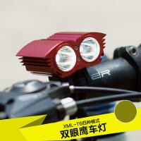 T6自行车灯 夜骑行装备山地车前灯尾灯手电筒 USB强光单车配件