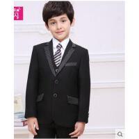新款男童格子西服外套装 儿童西装中大童小孩男花童礼服  可礼品卡支付