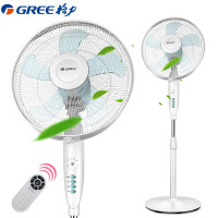 格力(GREE)电风扇FD-4025Bah5-WG五叶遥控 空调伴侣 节能省电摇头定时风扇