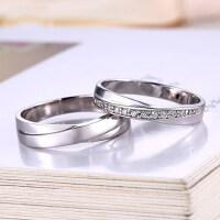 情侣戒指女S925银饰品开口对戒男一对创意戒免费刻字