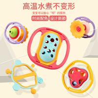 新生婴儿摇铃玩具0-1岁手抓握可啃咬男女3-6-12个月宝宝水煮牙胶8