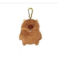 日本袋熊家族卡通零钱包女迷你可爱韩国创意公交卡书包挂件钥匙扣 袋熊先生 13-14cm