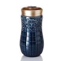 乾唐轩活瓷杯小富贵随身杯 单层330ml陶瓷养生水杯子创意带盖