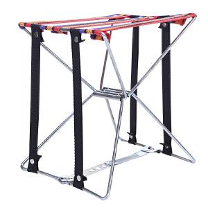 凳子 简约现代金属折叠换鞋穿鞋椅子布艺不锈钢钓鱼板凳满额减限时抢家具用品