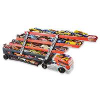 美泰Hotwheels风火轮重型运输车CKC09小车玩具车收纳神器