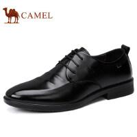 camel 骆驼男鞋秋冬新品男士皮鞋低帮真皮系带商务正装皮鞋男