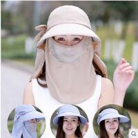 防晒帽子女骑车男户外太阳帽出游百搭可折叠遮脸防紫外线遮阳帽可礼品卡支付