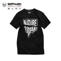 【顺心而行】NU诺诗兰户外新款夏季休闲T恤男式时尚印花短袖T恤KL075408