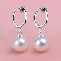 贝珍珠无耳洞耳环假耳夹隐形耳坠简约耳饰装饰品女