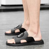 拖鞋男夏时尚外穿真皮男士凉鞋2019夏天新款潮牌室外凉拖