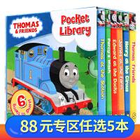 Thomas and Friends Pocket Library 英文原版 6册手掌纸板书 托马斯与朋友小小图书馆