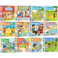 Busy系列纸板书 英文原版绘本 8本套装忙碌的机关启蒙活动操作书