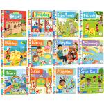 Busy系列纸板书 英文原版绘本 3本套装忙碌的机关启蒙活动操作书 0-3岁 Busy Funfair/Booksho