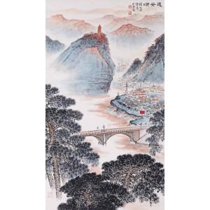 中国山水画主要代表人之一   钱松岩《延安颂》