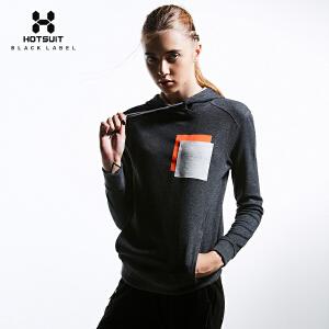 美国HOTSUIT正品女士秋季运动上衣潮流连帽衫运动休闲长袖卫衣6648058