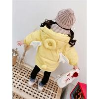 女童棉衣女宝宝羽绒会动的小翅膀童冬装外套棉袄洋气