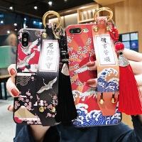 xmas日系XR和风iphoneX手机壳6苹果X故宫iphone8手拿P支架7plus带iphone plus/splu