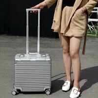 商务拉杆箱万向轮小铝框16/18英寸行李箱旅行箱出差登机箱男女