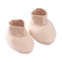 班杰威尔 婴儿护脚套纯棉秋冬婴儿软底鞋子宝宝超柔天然彩棉护脚套保暖