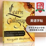 华研原版 英语字贴 英文原版 Learn Calligraphy英文进口书法字贴 手写印刷体意大利罗马斜衡水圆体 英文