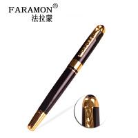 法拉蒙高档礼品笔学生用签字笔0.5mm商务金属中性笔杆黑色圆珠笔
