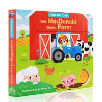 进口英文原版绘本 sing and slide Old MacDonald Had a Farm 老麦克唐纳有个农场