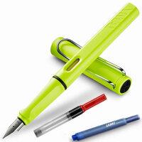 LAMY凌美safari狩猎者限量版013荧光黄F尖M尖A尖钢笔/墨水笔 为年轻人设计、特殊、有个性的笔款,充分展现出年轻人的勇气及活力,采用ABS笔身、色彩丰富,颜色亮丽,不仅是可以作为书写工具,同样是很好的装饰品。