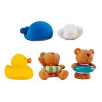 Hape泰迪朋友们戏水玩偶组0岁以上宝宝洗澡玩具婴幼玩具戏水浴室玩具E0201