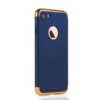 【送钢化膜】iphone6三合一手机壳时尚大气三件套保护壳苹果6plus电镀手机硬壳