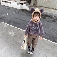 女宝宝冬装卫衣女童冬季上衣儿童洋气衣服