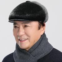 冬季中老年帽子男士前进帽冬季老人老年人护耳爸爸帽