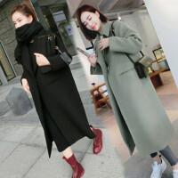 2018新款秋冬季韩版长袖BF呢子学生大衣外套的毛呢女厚