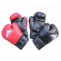 简单大方精致透气运动手套仿真PU皮散打搏击训练用护手家用健身拳击手套