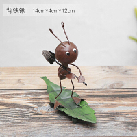 创意可爱卧室办公室小摆件可爱铁艺蚂蚁家居装饰品个性客厅工艺品