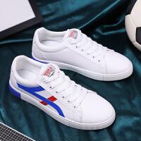 夏季时尚夏季白鞋男士休闲板鞋时尚潮流百搭帆布鞋低帮学生小白韩版男鞋子