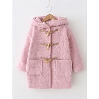 女童呢大衣 秋冬儿童宝宝中长款洋气牛角扣毛呢外套