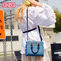 【立减100】aza小包包2019新款女包ins韩版牛仔手提小方包时尚简约牛仔斜挎包