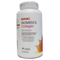 美国GNC健安喜女士水解胶原蛋白片 含玻尿酸180片