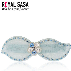 皇家莎莎RoyalSaSa韩版头饰横夹时尚发卡人造水晶醋酸板材发夹发饰-缠绵心事