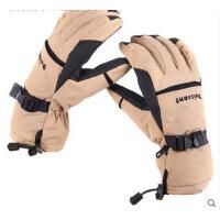 冬季男士户外骑行防滑滑雪手套抓绒加厚防寒全指防水防风登山手套 可礼品卡支付