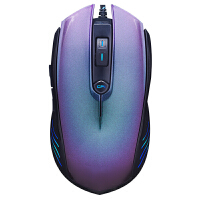 S16 游戏鼠标 (有线电竞光电鼠标 FPS守望先锋鼠标笔记本 办公商务男女通用) 紫色