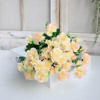 甜梦莱送妈妈仿真花康乃馨家居客厅装饰花塑料花假花绢花摆件